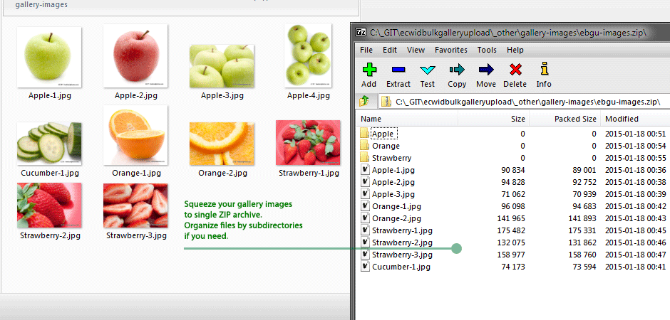 Bulk Gallery Upload App for Store: ZIP images