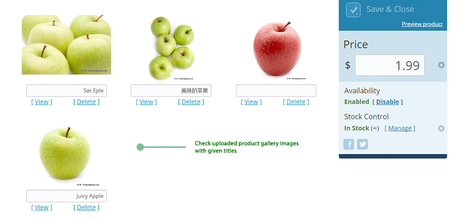 Bulk Gallery Upload App for Store: Check results